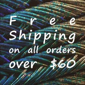 FREE SHIPPING ON $60.00 and above!!